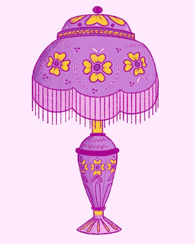 Disney princesses as lamps part 1: who's this? 🏮🏵💗 this is the most entertaining prompt I've made for myself by the way- a real portfolio booster lol. #emeliadraws #lamp #propdesign #procreate