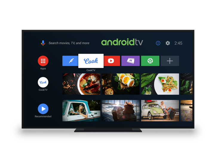 Android Tv Aplication - Recommend great content to users right on the home screen. Enable users to find movies through voice search. Engage users with fluid, immersive games.