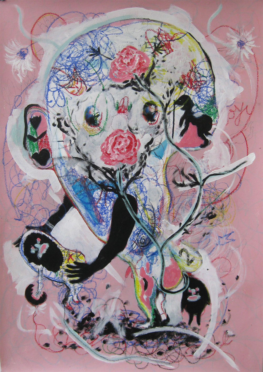 Birth of Joy  70 x 100   Mixed media on Paper
