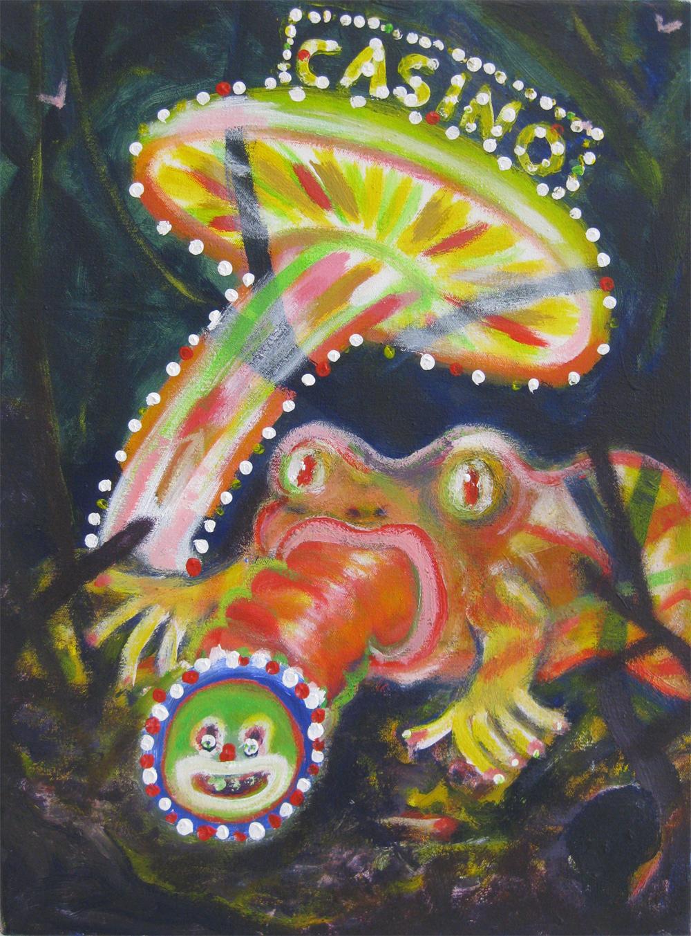 Casino / Das ganze Leben ist ein Spiel 30 x 40 Acryl on canvas