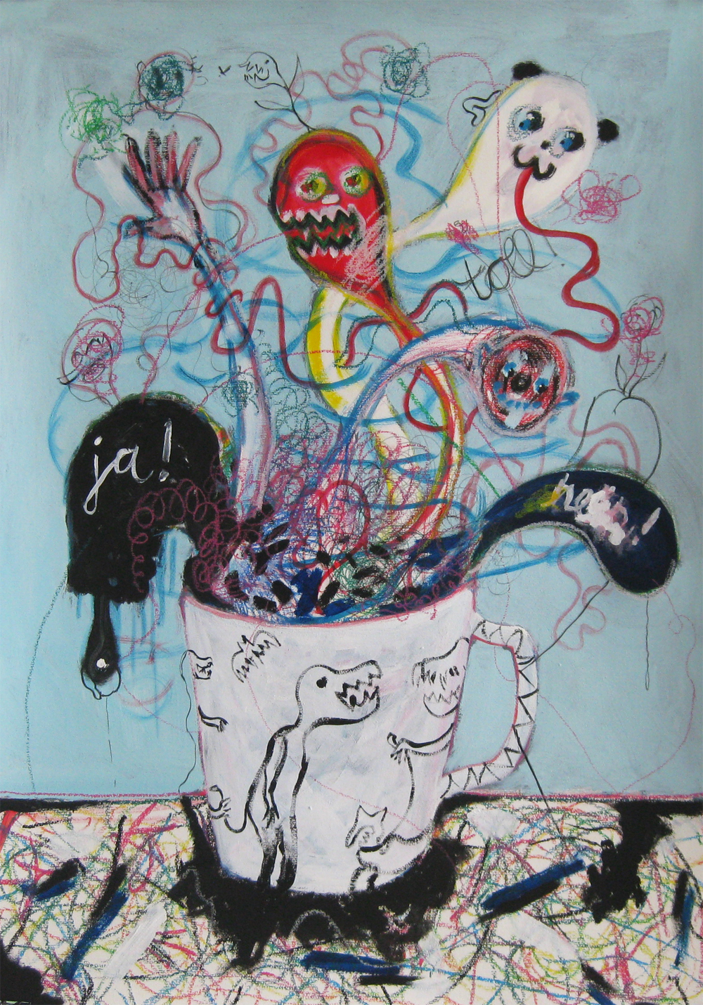 Strange Brew  70 x 100  Mixed media on Paper