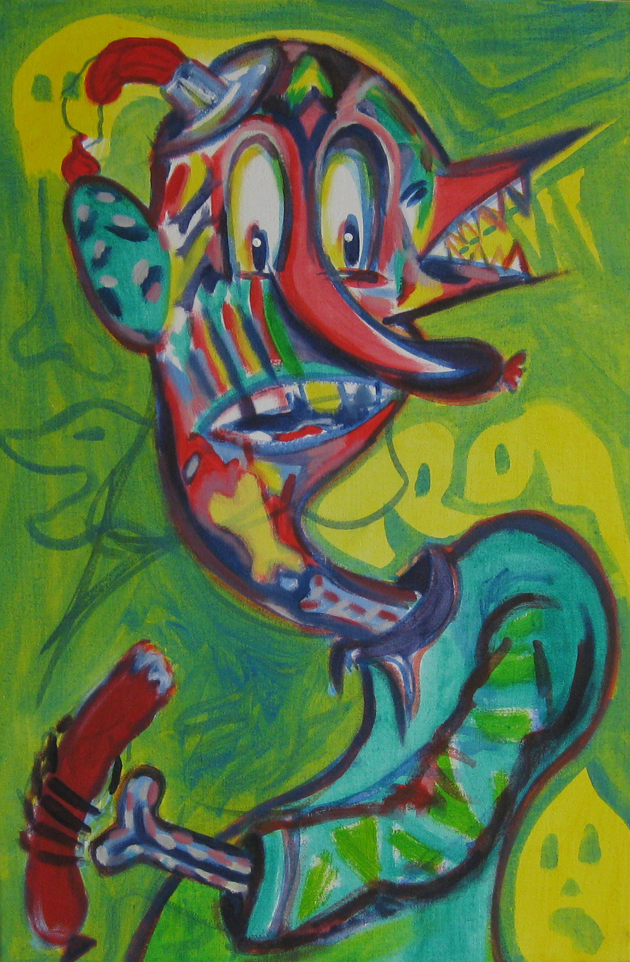 Canibalic Wanker  40 x 60  Acrylic on canvas
