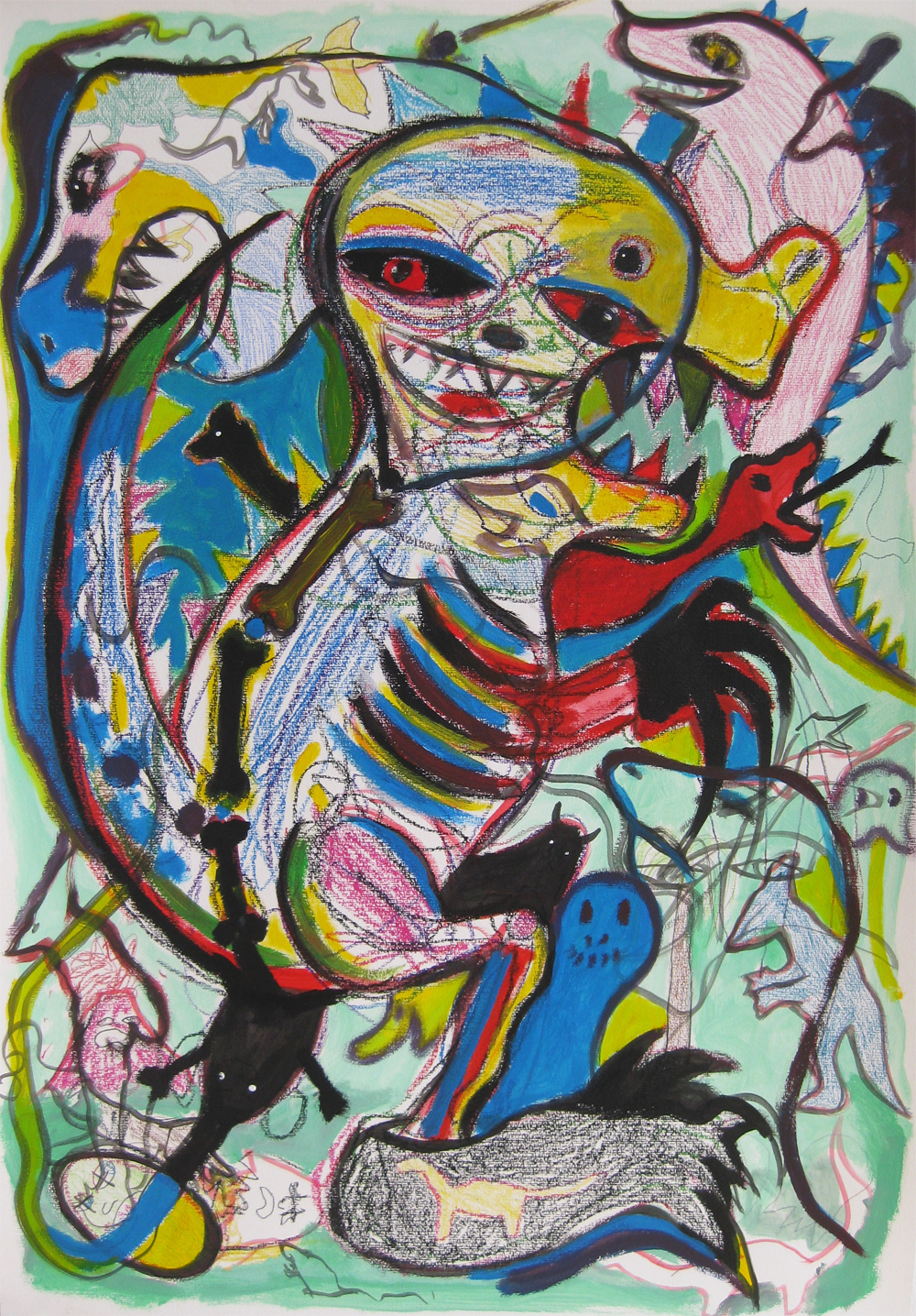 Dino  70 x 100  Mixedmedia on Paper