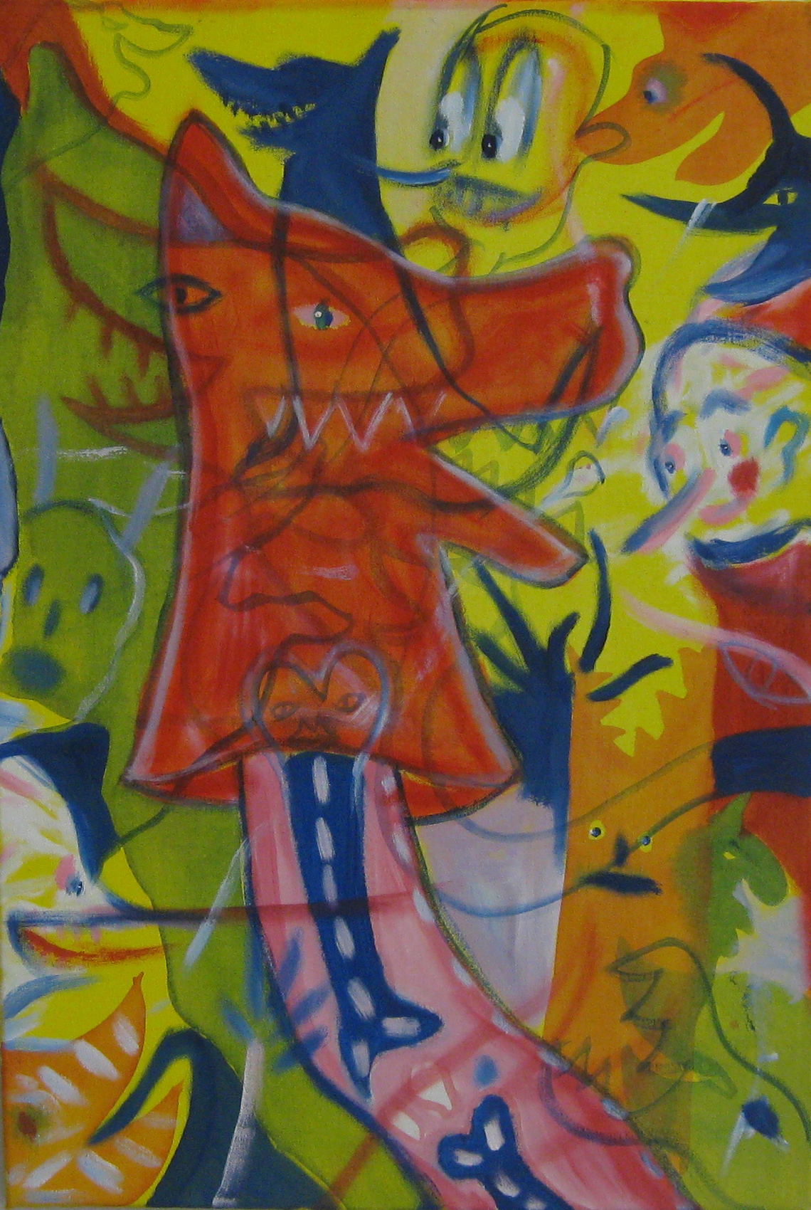 Master of Puppets  40 x 60  Acrylic on canvas
