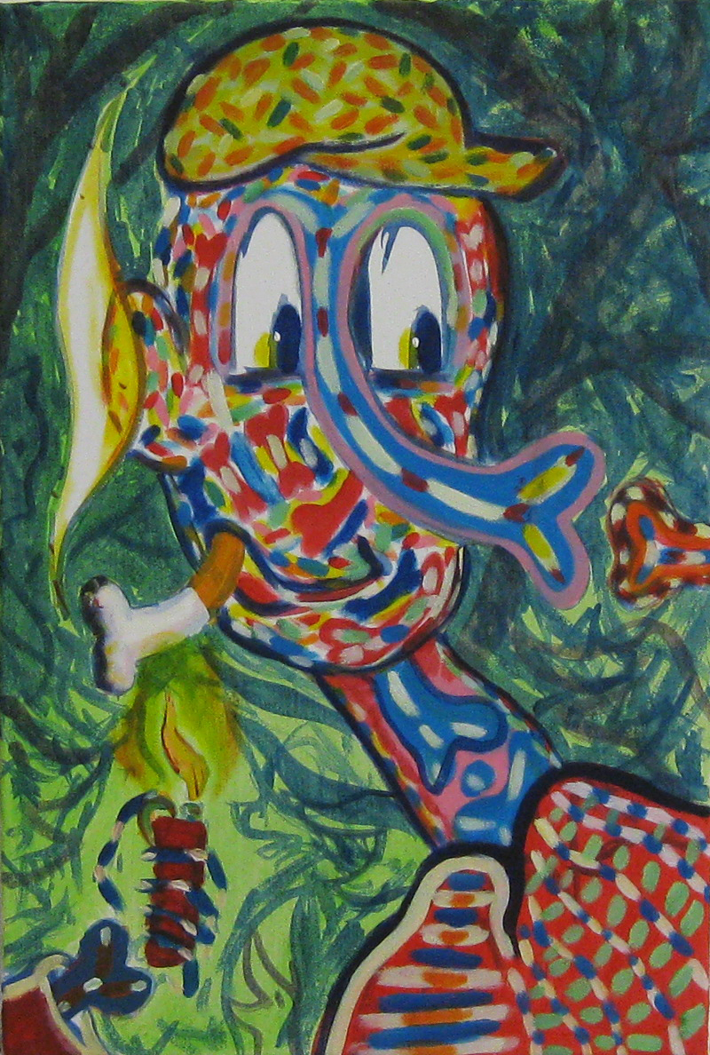 Smoker  40 x 60  Acrylic on canvas