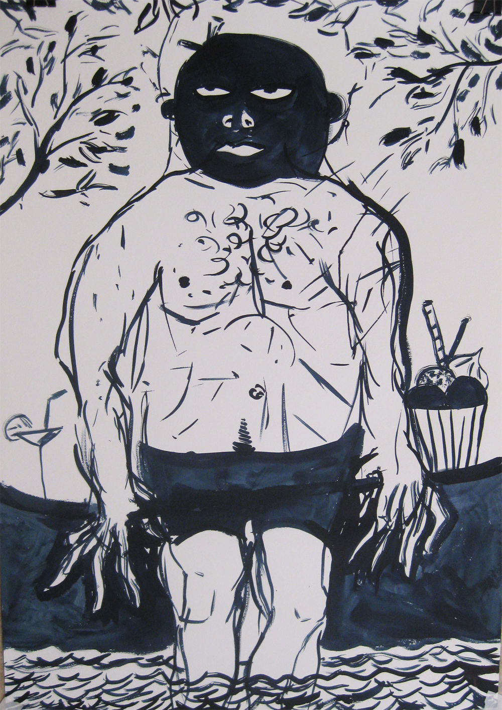 Babo  70 x 100  Ink on Paper