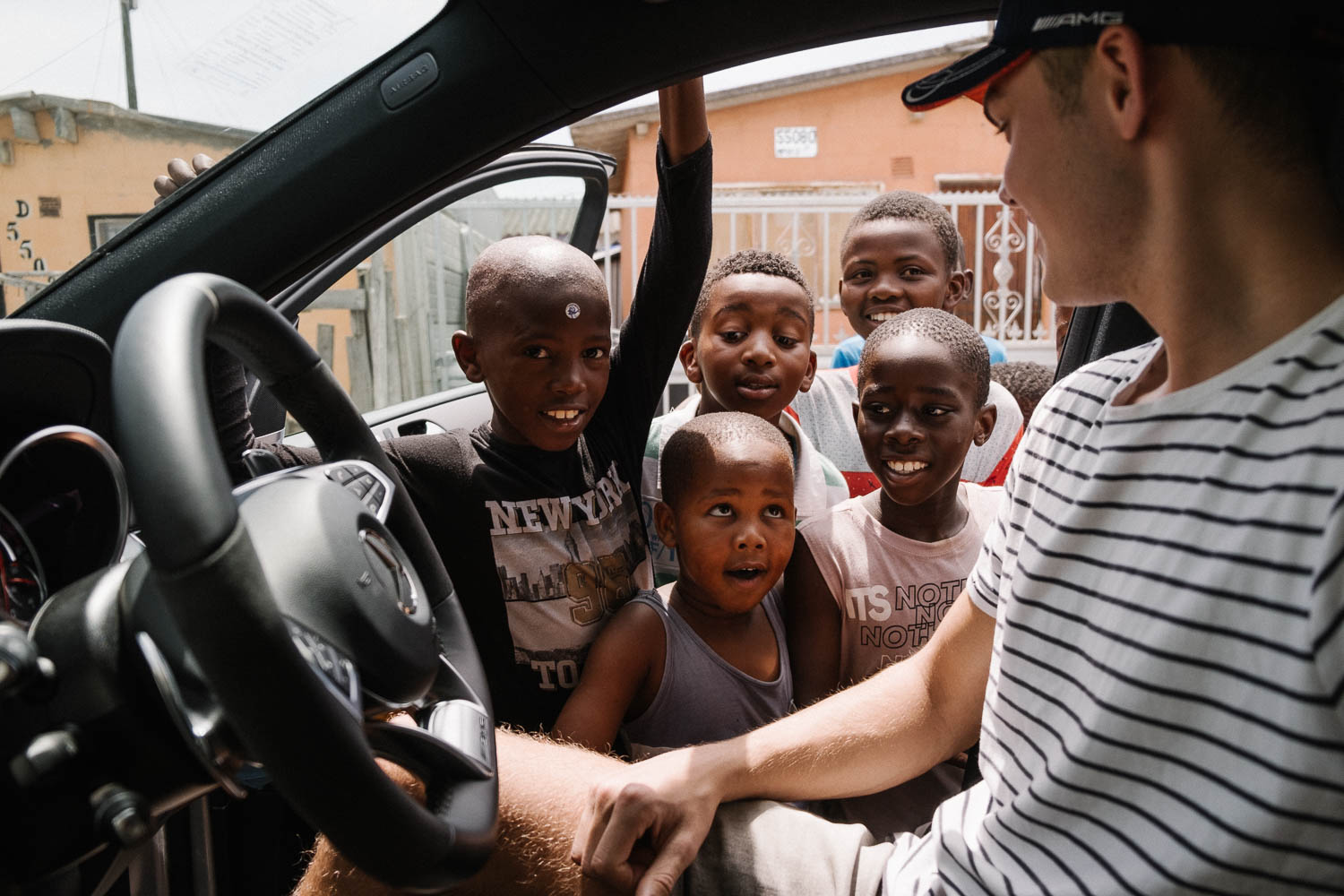 Visiting the kids in the townships of South Africa! -
