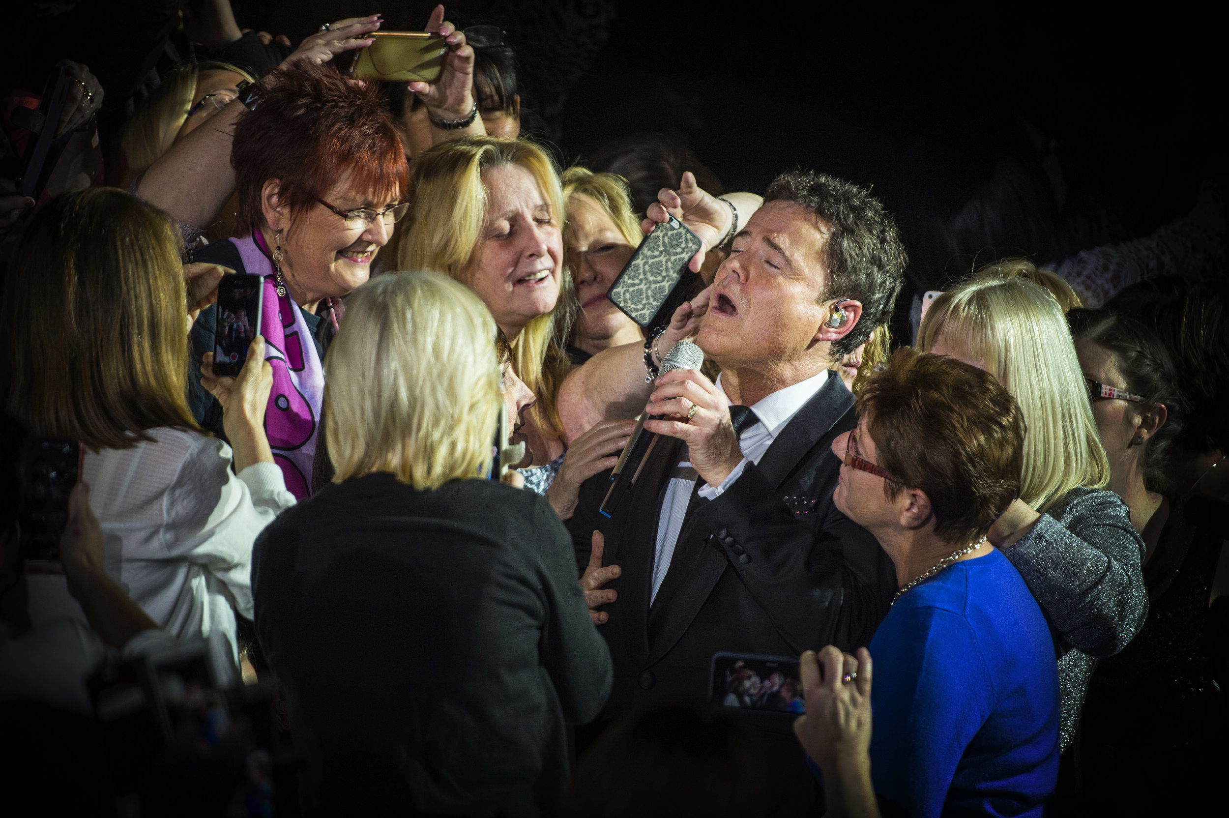 Singer Donny Osmond performs at the Manchester Arena on the first date of his �The Soundtrack of my Life� UK tour.Photo by Bruce Adams  21 January 2017