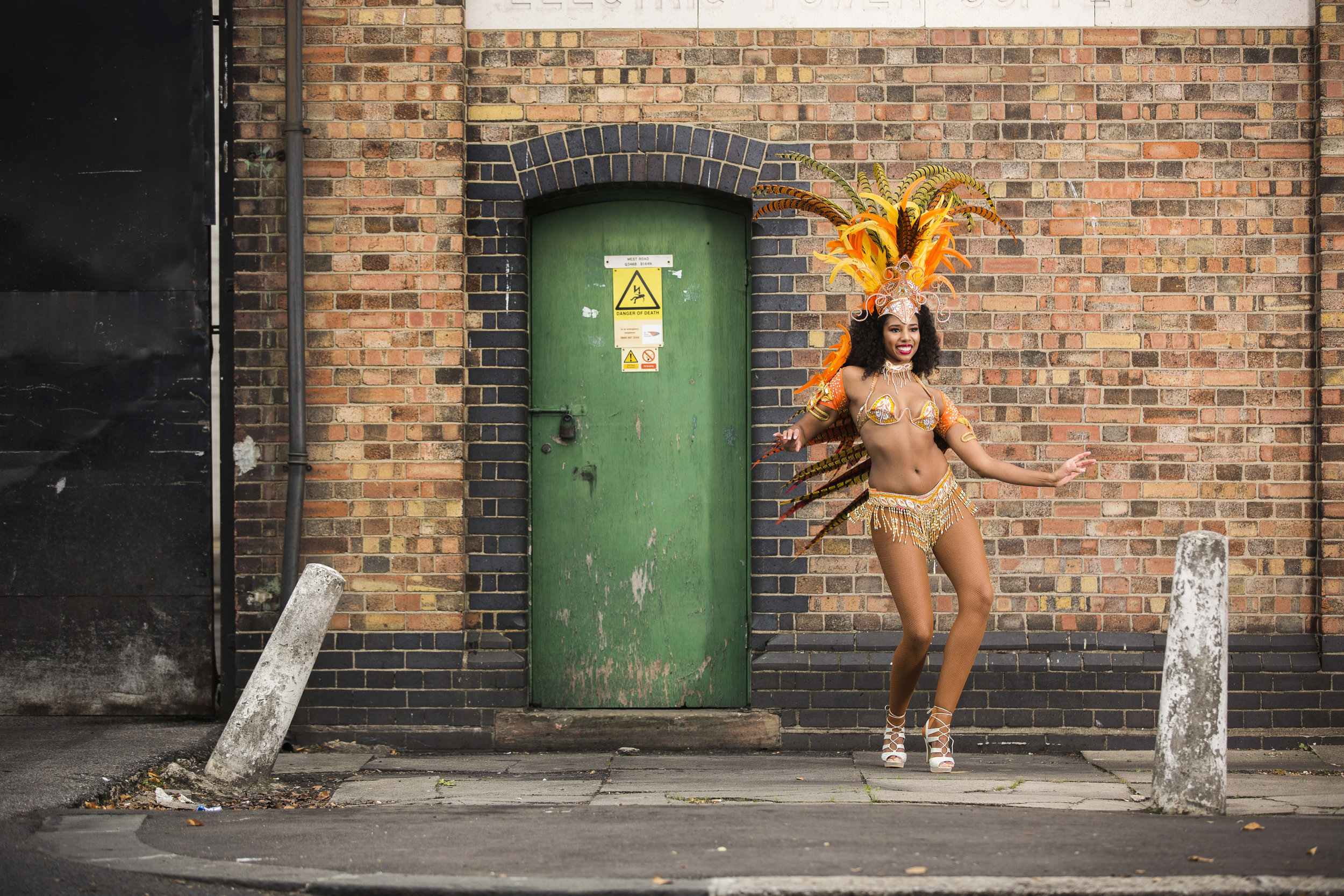 Maxine-Laurie Marshall from London who keeps fit by doing Samba.Photo by Fabio De Paola  30 October 2016