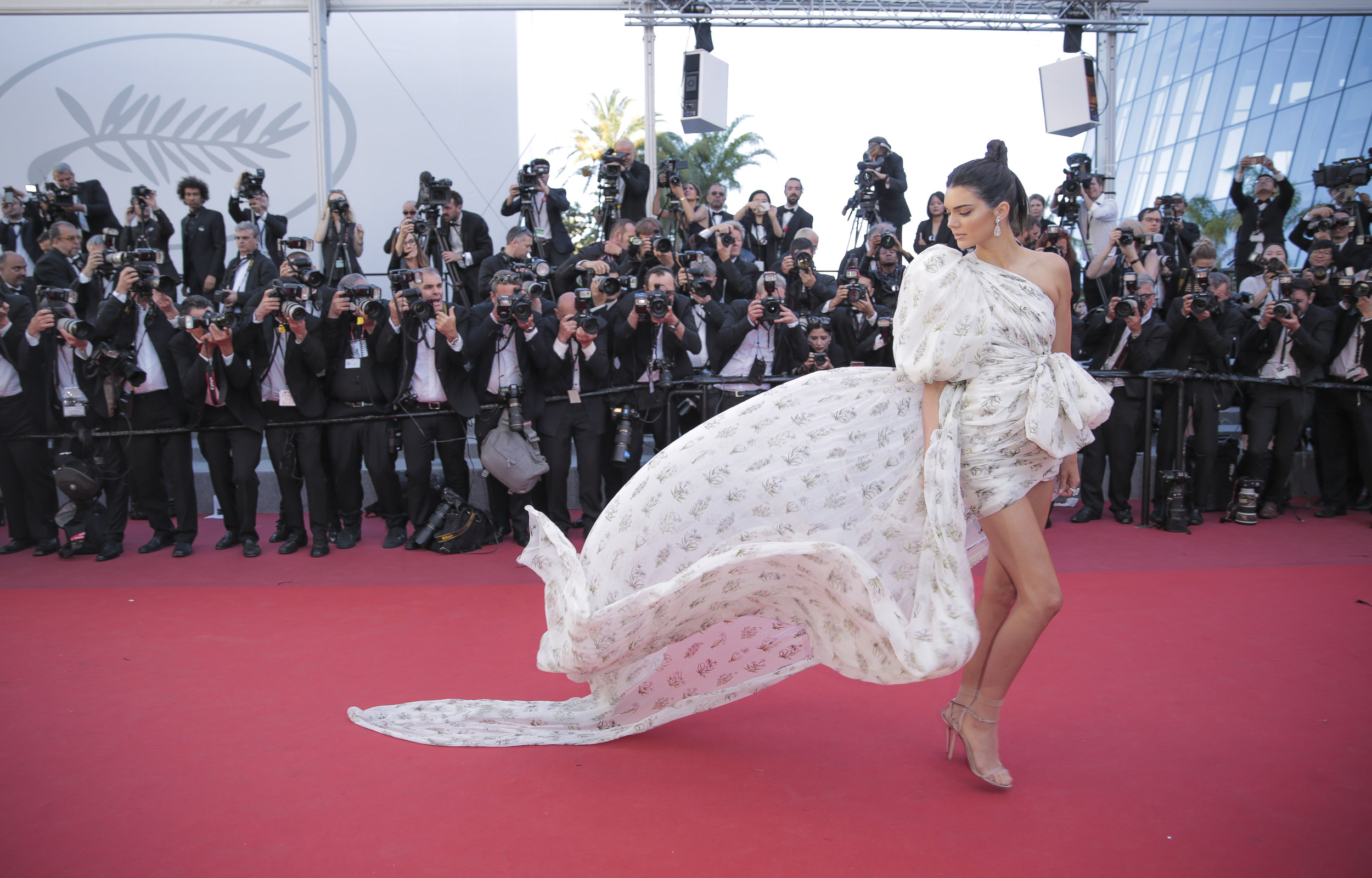 Kendall Jenner on the red carpet at the Cannes Film Festival.Photo by Graham Whitby-Boot  20 May 2017