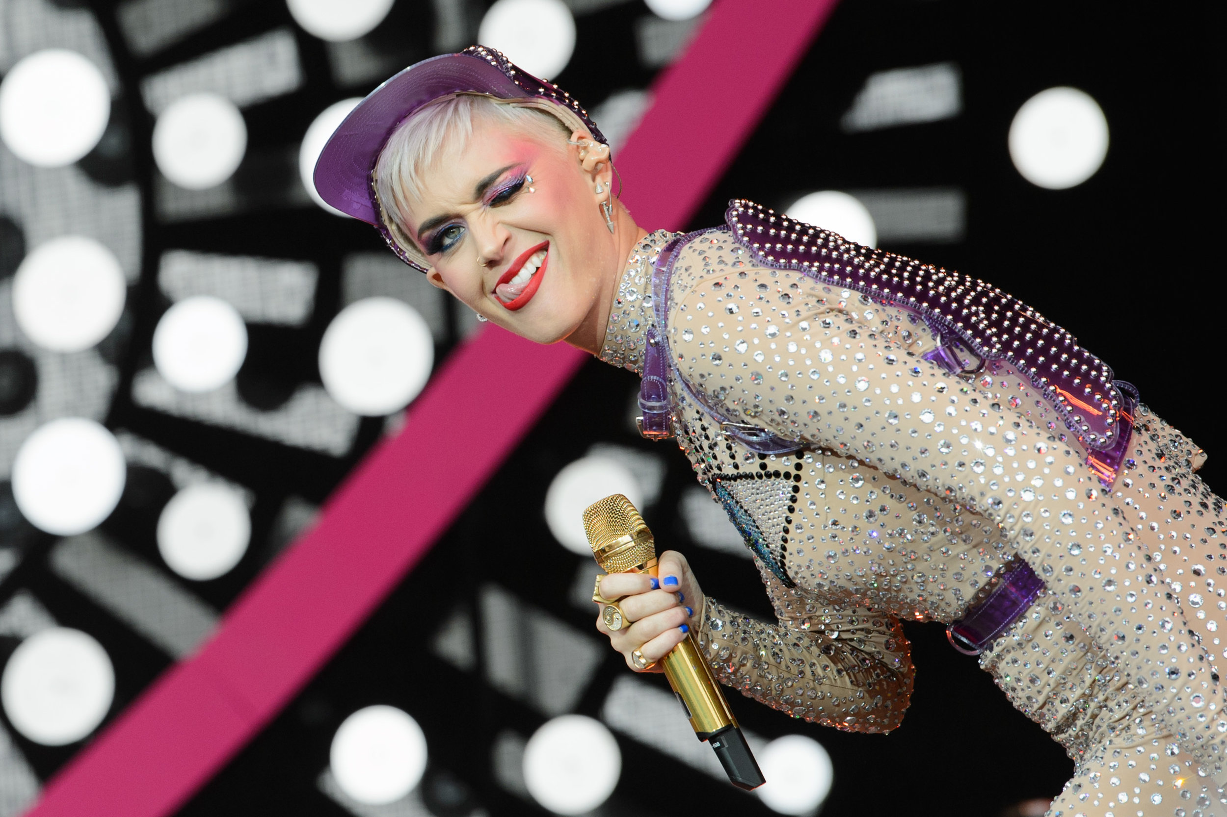 Katy Perry performs on the Pyramid Stage at the Glastonbury Festival.Photo by Joanne Davidson  24 June 2017