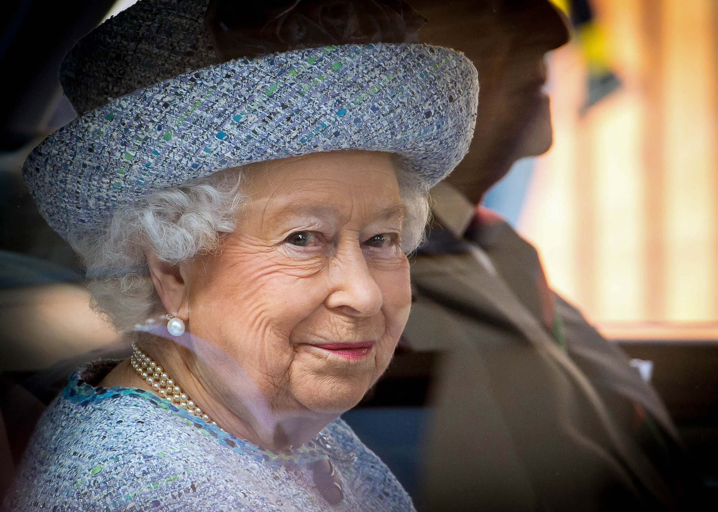 HM Queen Elizabeth II accompanied by Prince Philip being chauffeured away in their car after attending the reopening of the National Army Museum in London following its three year, �23.75 million redevelopment project.Photo by Pete Maclaine  30 March 2017
