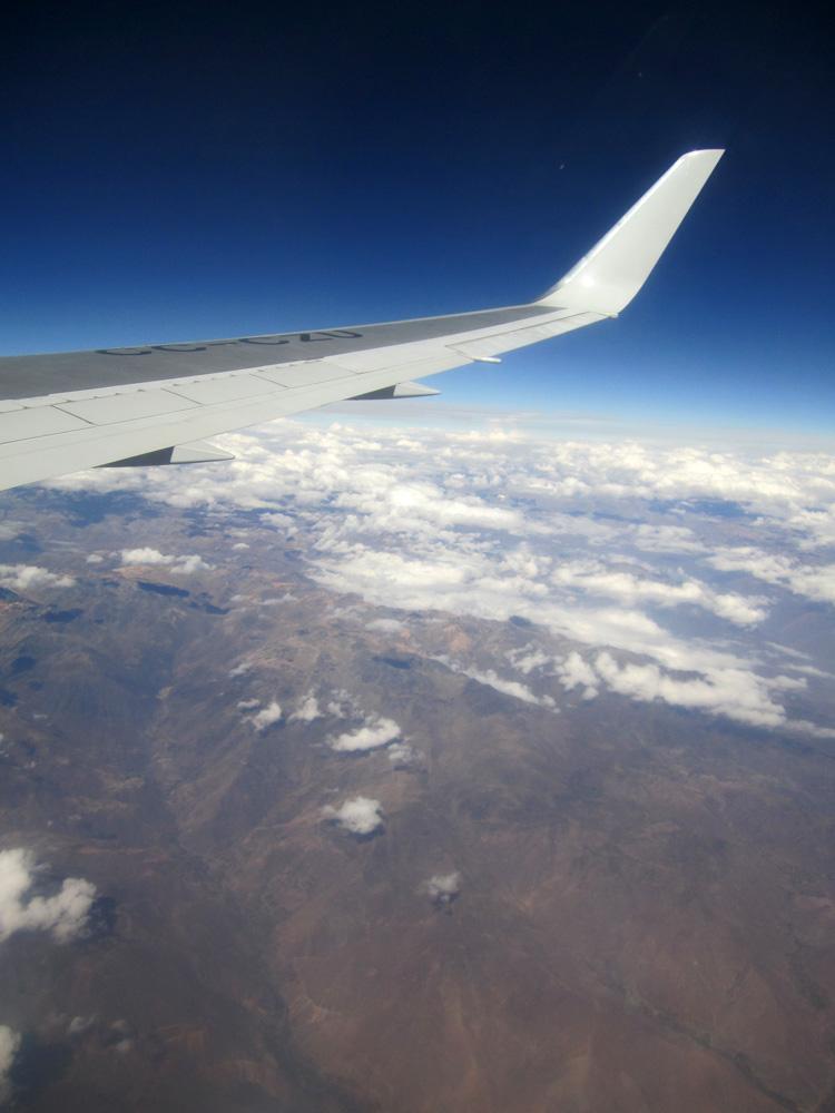 Flying over Peru