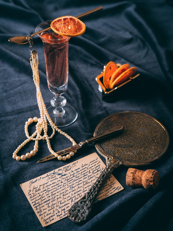 vintage fransk bazar drink appelsin musserende mats dreyer fotograf oslo norge matfotograf stylist matstylist
