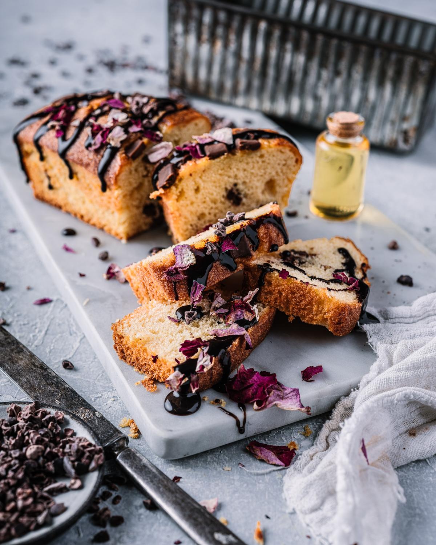 Matstylist dreyer mats fotograf kake form med sjokolade og honning