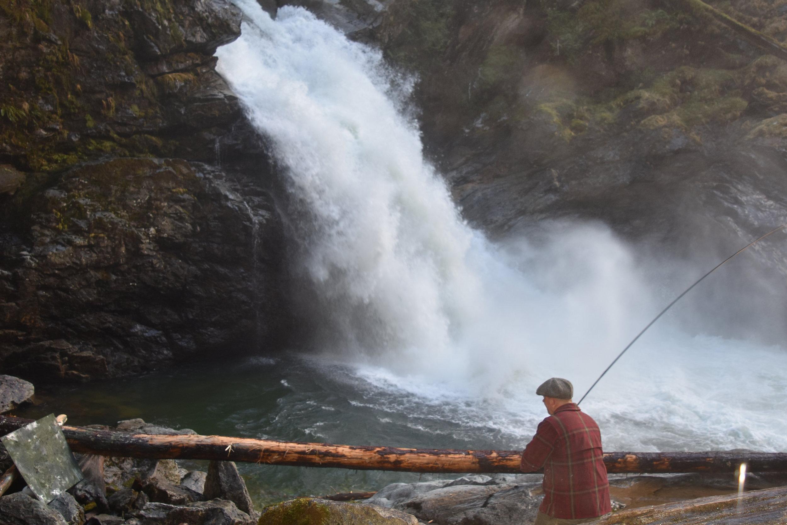 Sauk River Falls (Fly Cast Painting)