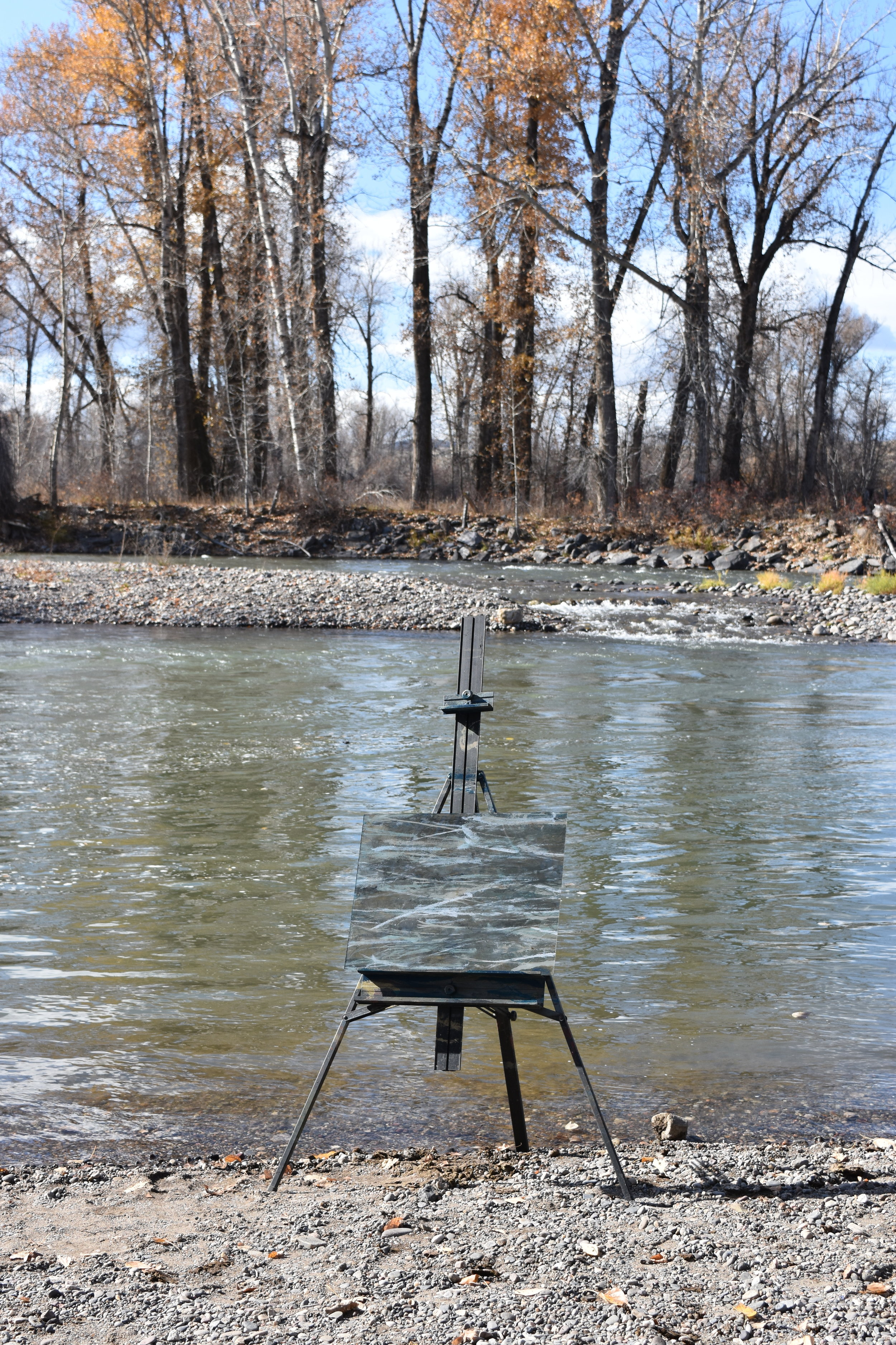 Axtell Bridge, On the Gallatin River Fly Cast Painting