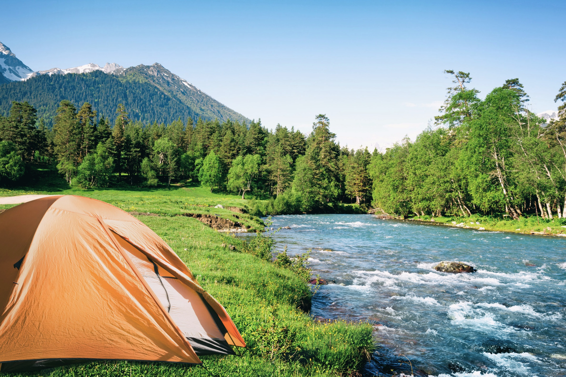 Bring your own tent, sleeping pad, sleeping bag and pillow. The camping sitesare near Moose Creek, and you will have the easy flow of the creekto lull you to sleep every night. - tent camping$1,899