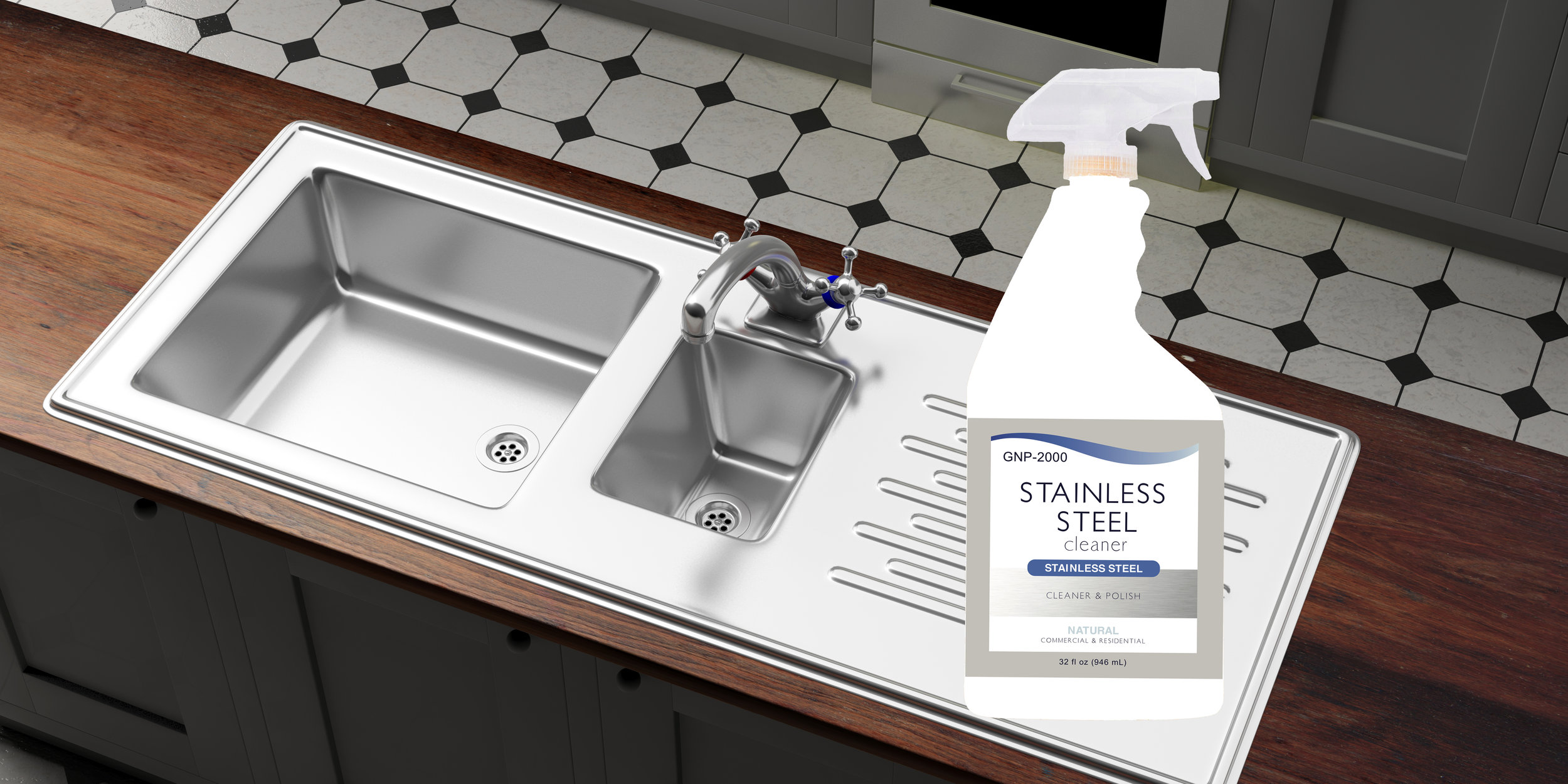 GNP-200 Natural Stainless Steel Cleaner