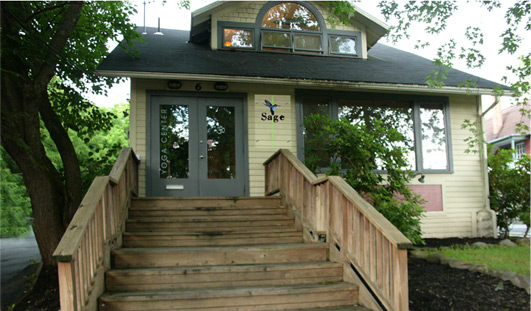 Sage Academy of Sound is located on the 2nd Floor of Woodstock Yoga