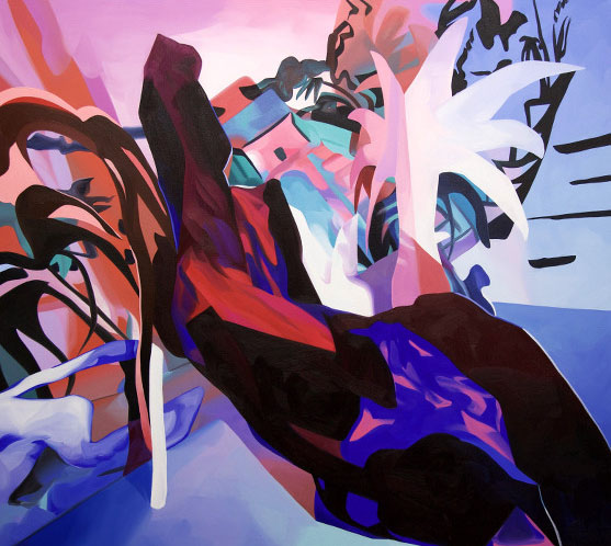 "Slicer, 54"" x 48"", oil on canvas"