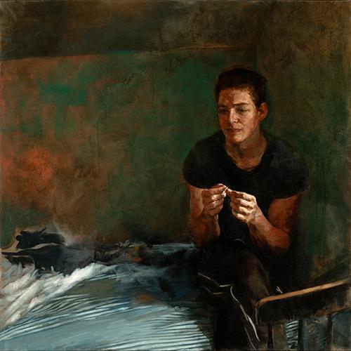"Shane, 48"" x 48"", oil on canvas"