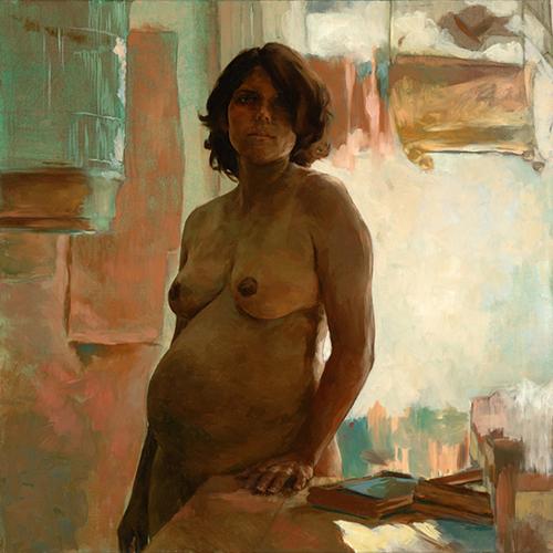 """Susana, 48"""" x 48"""", oil on canvas"""