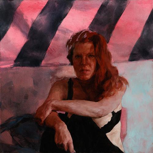"Linda, 48"" x 48"", oil on canvas"