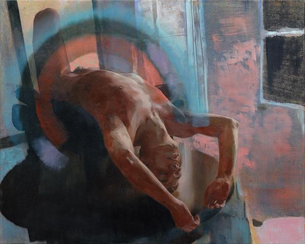 "Greg, 50"" x 38"", oil on canvas, 2010"