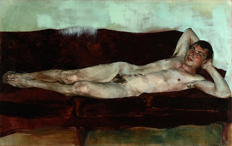 """Esten, 54"""" x 34"""", oil on canvas, 2009"""