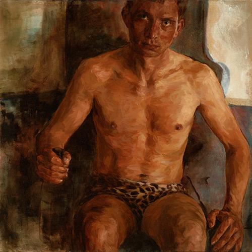 """Esten, 48"""" x 48"""", oil on canvas"""