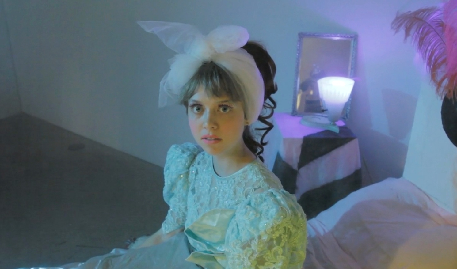 """Video still from """"Shadow of a Woman"""", Prom Girl played by Michele Ayoub (pictured)."""