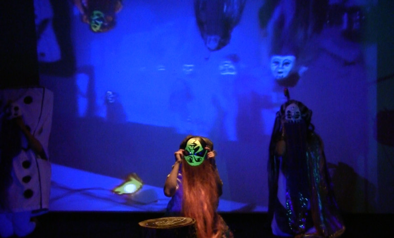 Performance by Inflatable Deities - a collaboration with Emily Pelstring, for Art in the Open at the Confederation Centre for the Arts, Charlottetown, PEI, 2015.  Resurrection Machine is a surrealist multimedia performance occupying the malleable dimensions of the netherworld. A cast of deities perform ritualistic songs and movements, provoking the resurrection of one of the underworld's most enigmatic spectres.  Dancers:   Mallory Wilkie, Indra Johnson, Mira Johnson, Kinley Dowling, Morgan Peters.  Audio and lighting tech: Alex Moskos