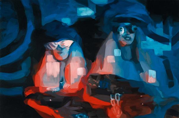 """Das Baby, 36"""" x 24"""", oil on canvas"""