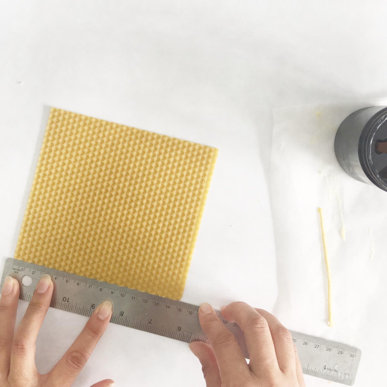 Measuring the wax.