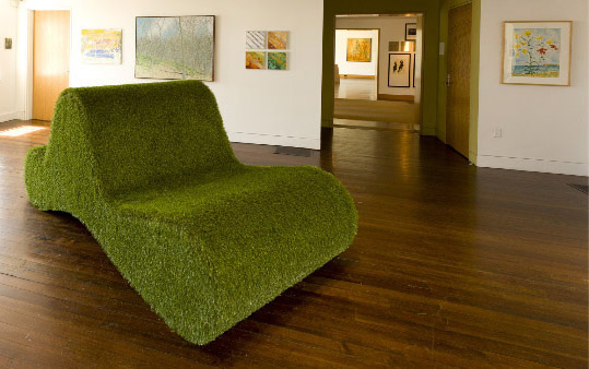 Green Wave Bench - © James Owen Calderwood 2011Materials: Artificial TurfDimensions: 8' Length x 4' Width x 3 1/2' Height