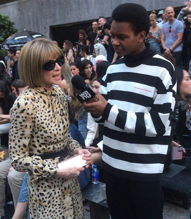 #TBT to when @jayversace interviewed legendary Anna Wintour . . . . . #stayuncmmn