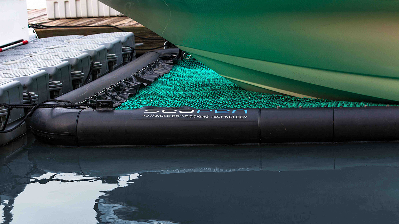 Dry float your boat - With SeaPen's patented in-water dry-docking system, your boat is protected and always ready to go. All without bottom paint, hydraulics, motors or cables.
