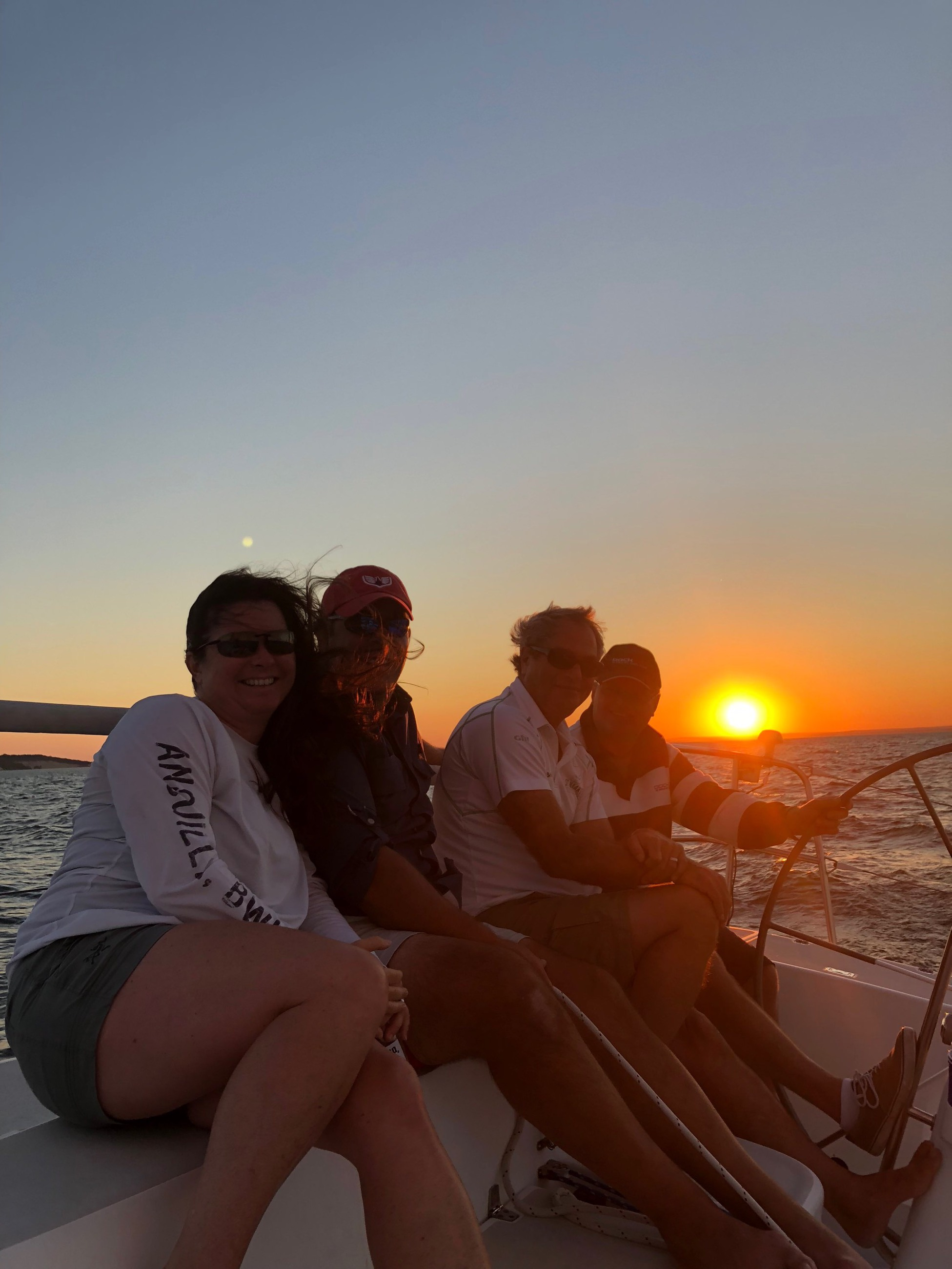 Our U.S. & Aussie families take a sunset sail in Huntington Bay to celebrate SeaPen's introduction to the U.S. market.
