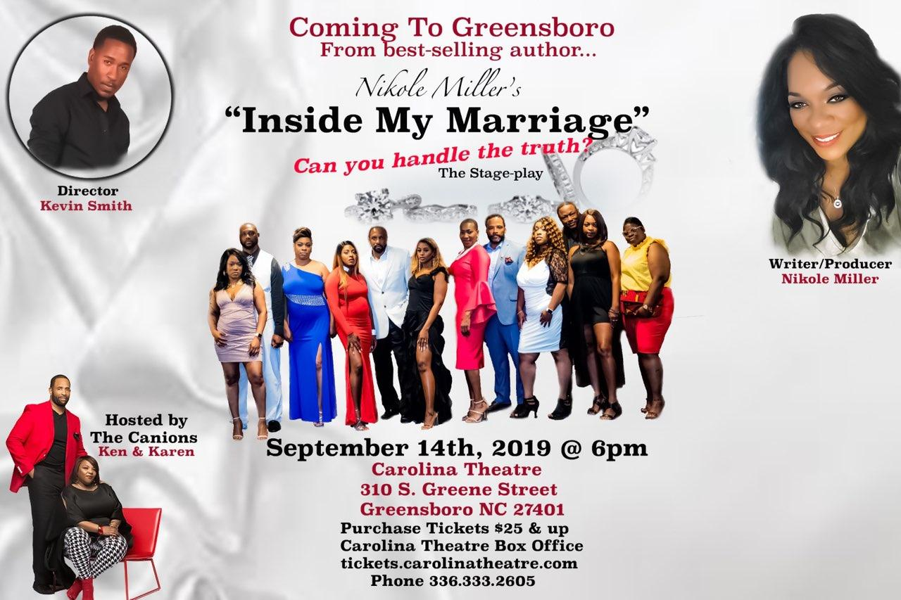 "Inside my marriage - The stage play ""greensboro"" - September 14, 2019"