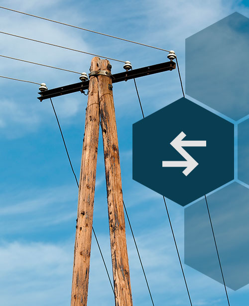 telephone poles