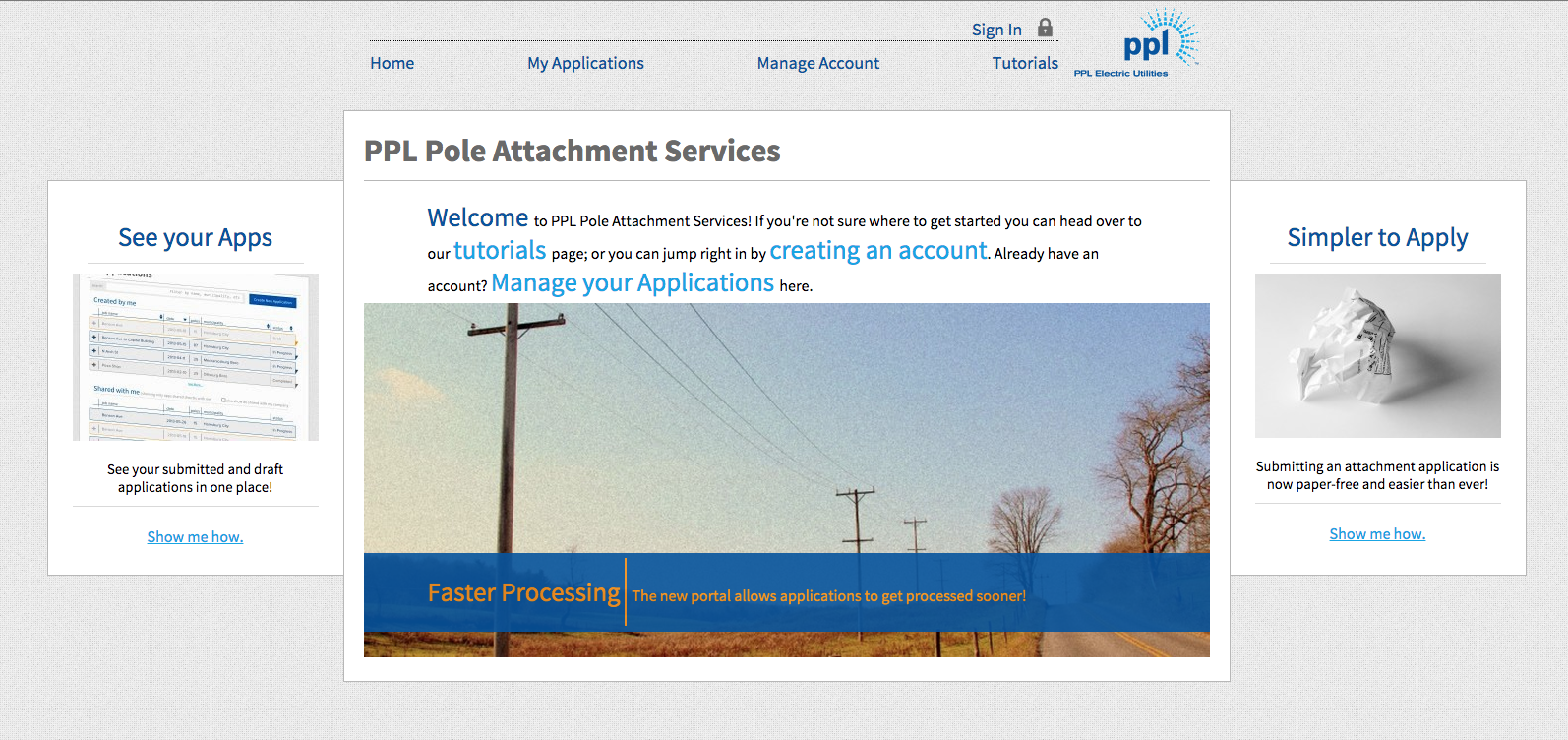 Katapult's PPL pole attachment service interface