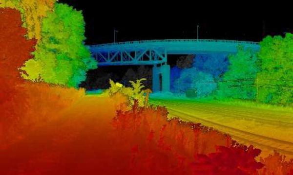 an image rendering of multiple liDAR scans combined into one