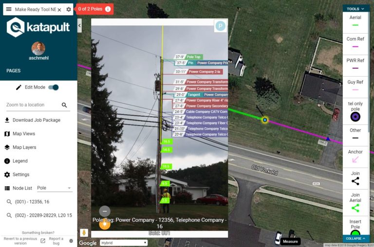 an annotated height shot with calibration markers in KatapultPro