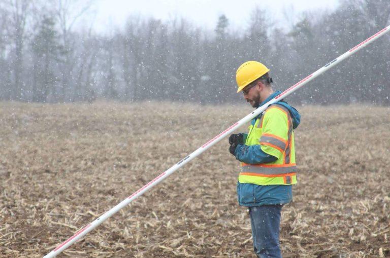 katapult employee doing field work