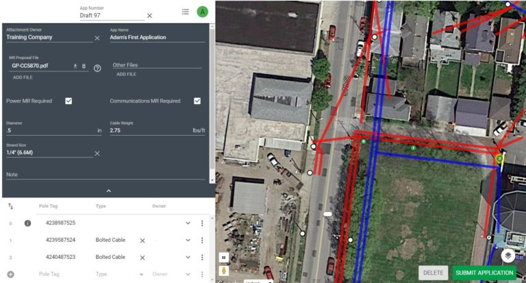 adding poles to application with Katatpult's joint use pole application portal