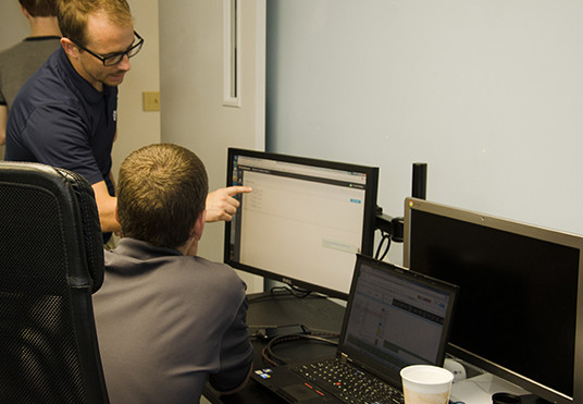 Katapult employees working in the office