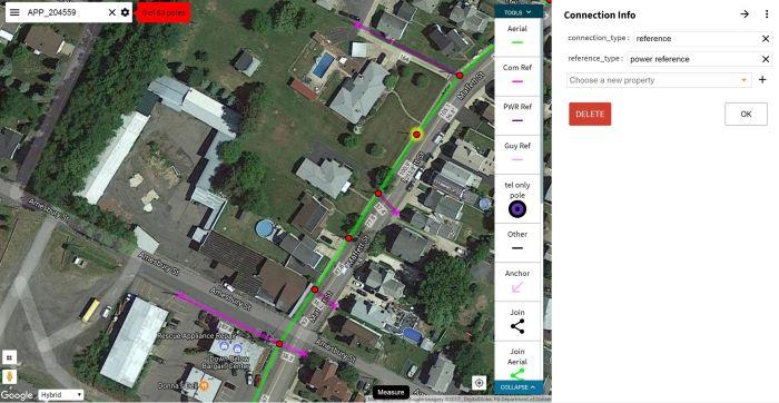 interface of mapping software KatapultPro