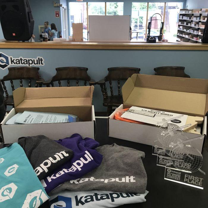 katpault t-shirts and two KatapultLabs MakeBoxes
