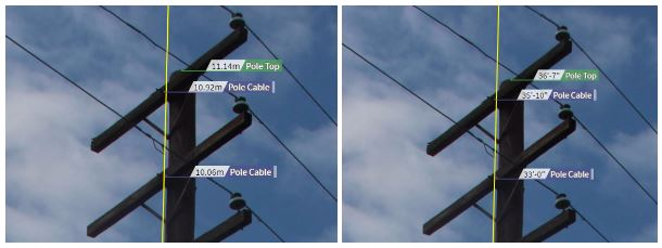 annotated height shot of poles within KatapultPro